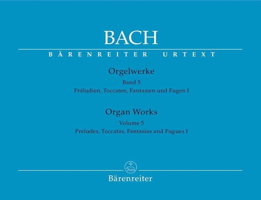 BACH - Orgelwerke. Band 5. Urtext Der Neuen Bach-Ausgabe. - Partition - di-arezzo.co.uk