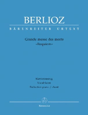 BERLIOZ - Great Mass of the Dead Requiem Opus 5 - Partition - di-arezzo.co.uk