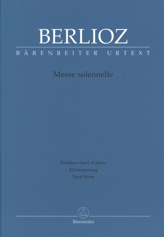BERLIOZ - Solemn Mass. Urtext of the New Berlioz Edition - Partition - di-arezzo.co.uk