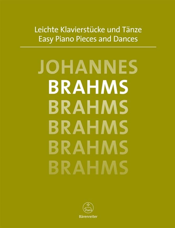 BRAHMS - Easy piano pieces and dances - Partition - di-arezzo.co.uk