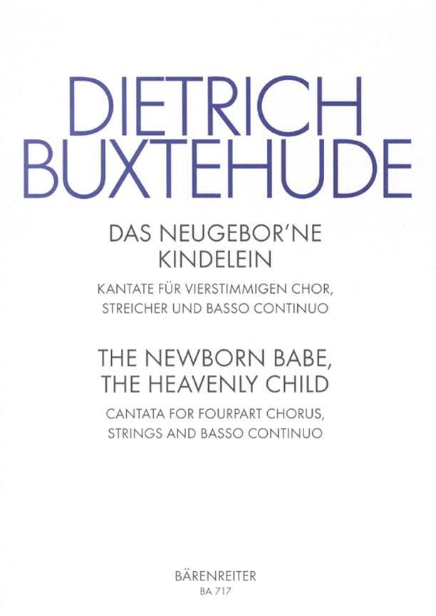 Dietrich Buxtehude - Das Neugeborne Kindelein Buxwv 13 - Partition - di-arezzo.co.uk