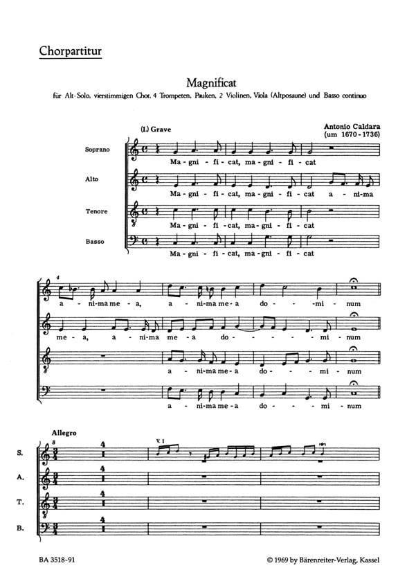 Magnificat C-Dur. Conducteur - CALDARA - Partition - laflutedepan.com