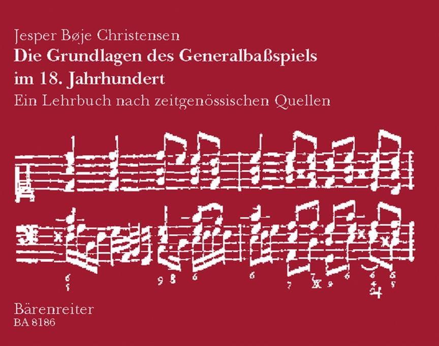 Die Grundlagen des Generalbaßspiels im 18. Jahrhundert. Ein Lehrbuch aus zeitgen - laflutedepan.com
