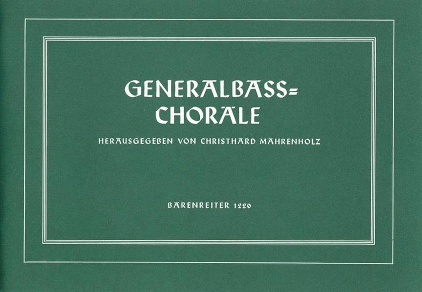 - Generalbass-Choräle - Partition - di-arezzo.co.uk