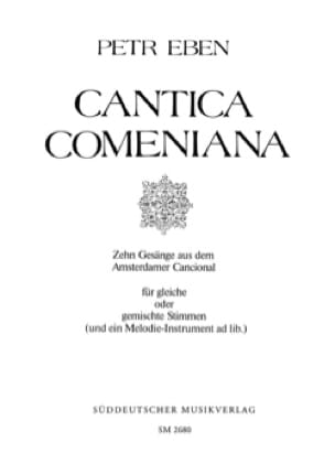 Cantica Comeniana - Petr Eben - Partition - Chœur - laflutedepan.com