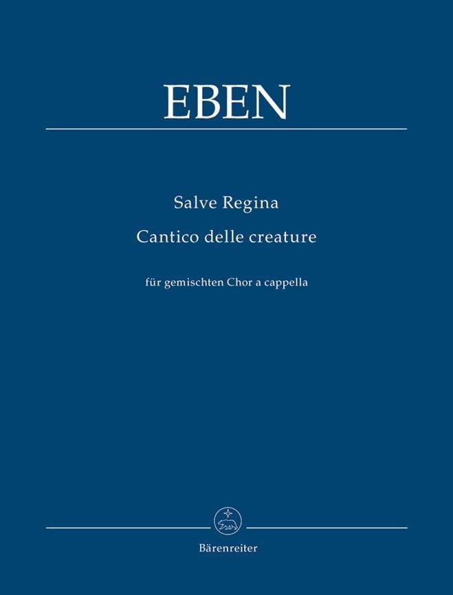 Petr Eben - Salve Regina / Cantico Delle Creature - Partition - di-arezzo.fr