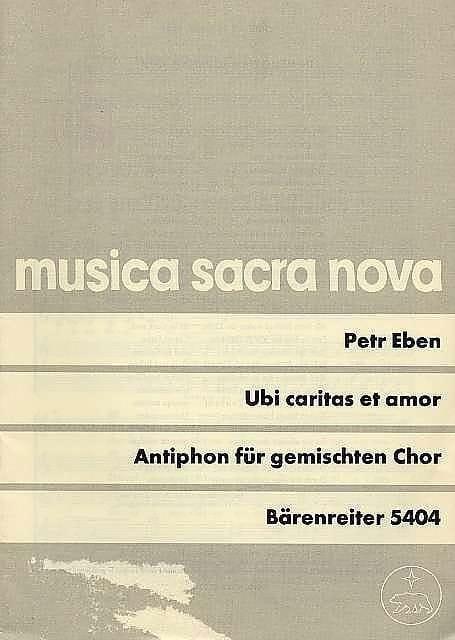 Petr Eben - Ubi Caritas et Amor Dei - Partition - di-arezzo.fr