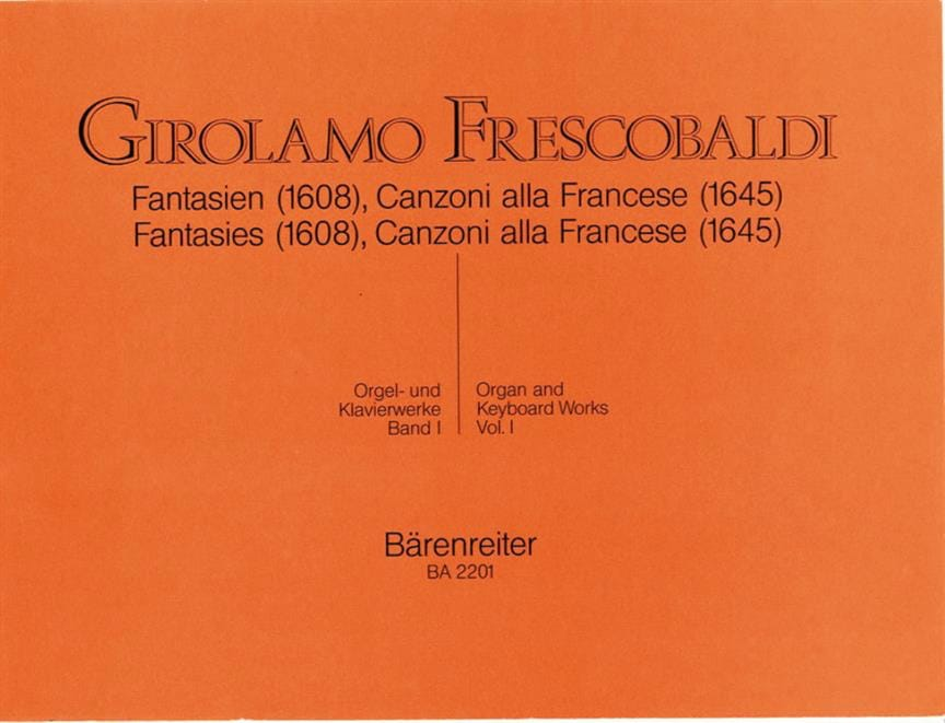 Girolamo Frescobaldi - Orgel Und Klavierwerke. Band 1 - Partition - di-arezzo.co.uk