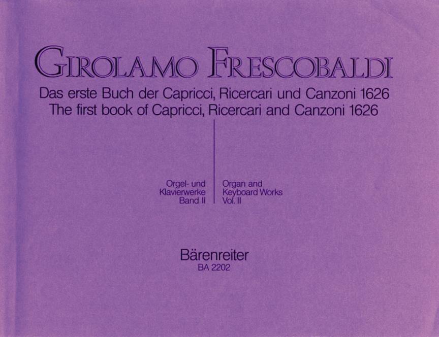 Girolamo Frescobaldi - Orgel Und Klavierwerke. Band 2 - Partition - di-arezzo.co.uk