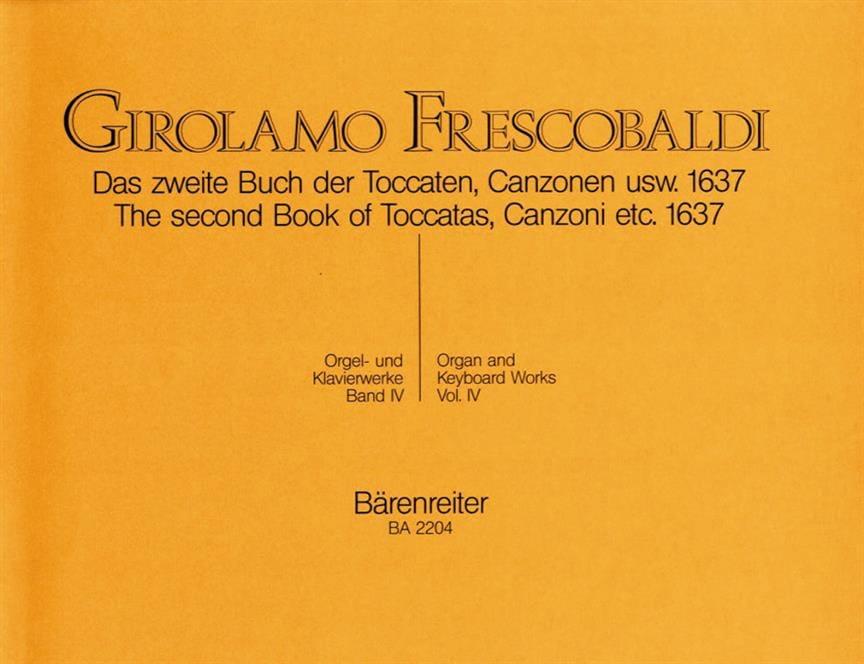 Girolamo Frescobaldi - Orgel Und Klavierwerke. Band 4 - Partition - di-arezzo.co.uk