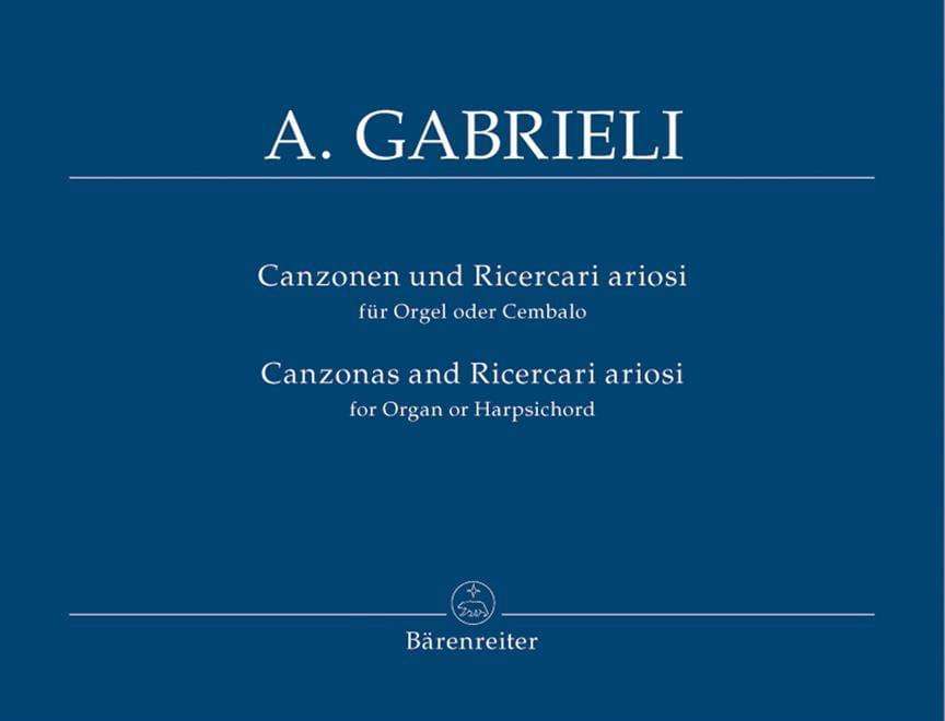Andrea Gabrieli - Canzonen Und Ricercari Ariosi 1-13 - Partition - di-arezzo.fr