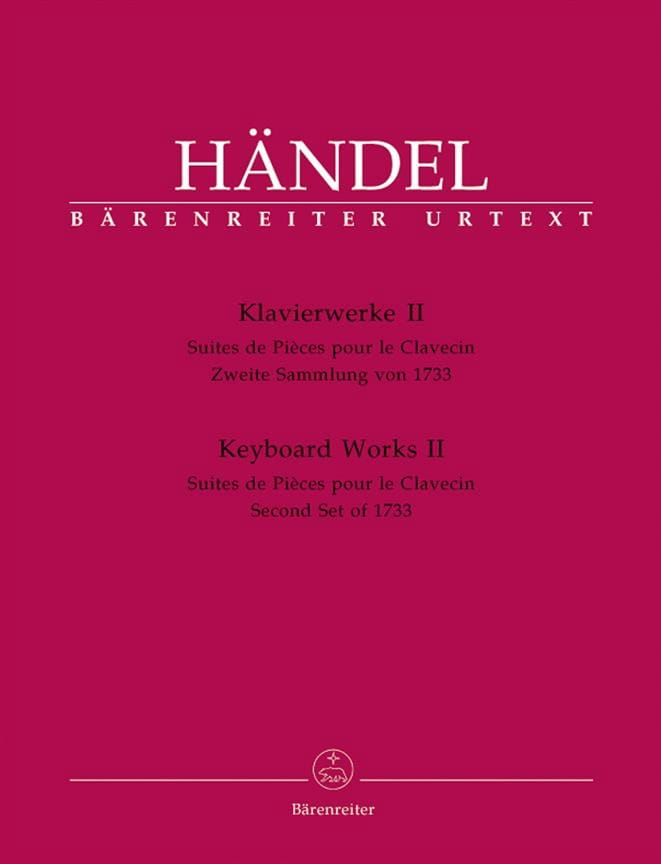 HAENDEL - Piano work Volume 2. - Partition - di-arezzo.co.uk