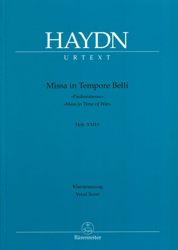 HAYDN - Missa In The Tempore Belli Pauken-Messe - Partition - di-arezzo.com