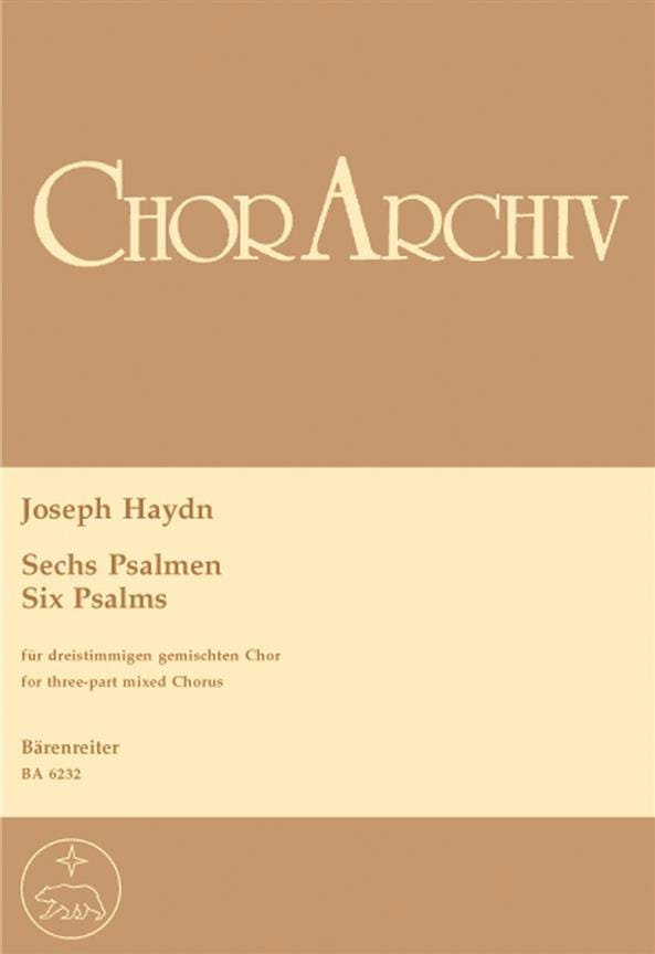 HAYDN - 6 Psalmen - Partition - di-arezzo.co.uk