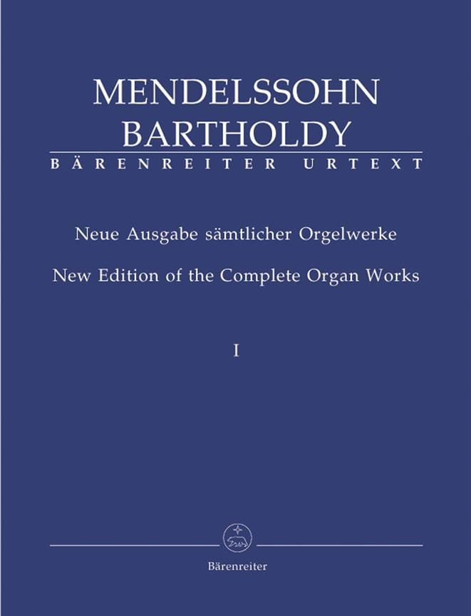MENDELSSOHN - Organ Work Volume 1 - Partition - di-arezzo.com