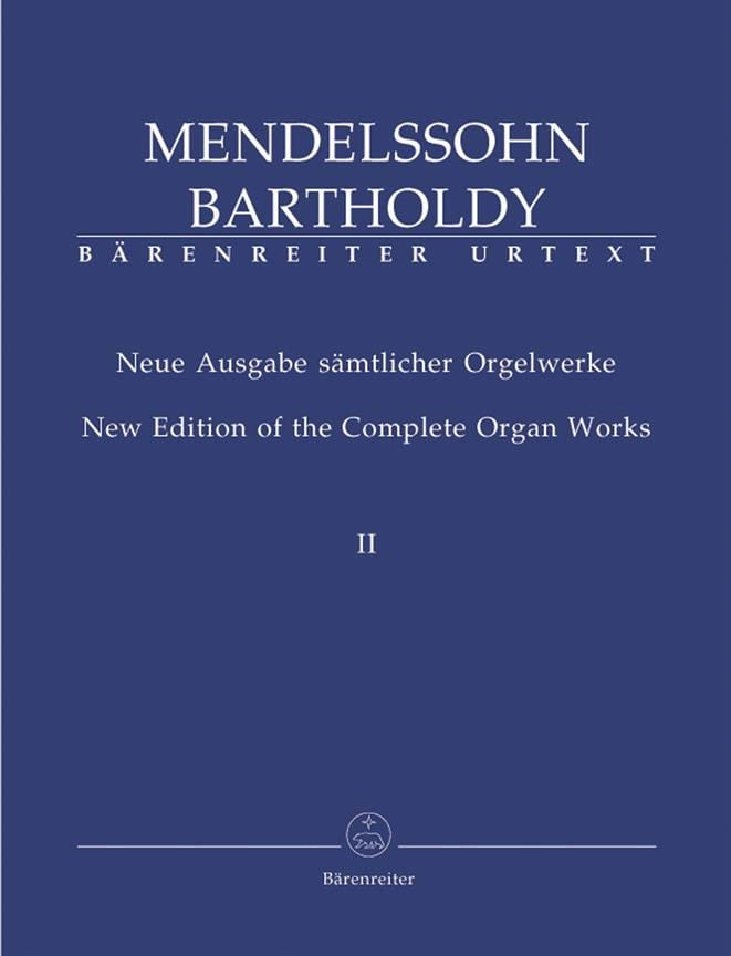 MENDELSSOHN - Organ Work Volume 2 - Partition - di-arezzo.com