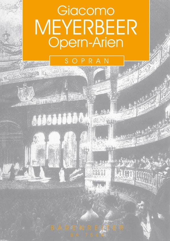 Giacomo Meyerbeer - Opern-Arien for Sopran and Klavier - Partition - di-arezzo.co.uk