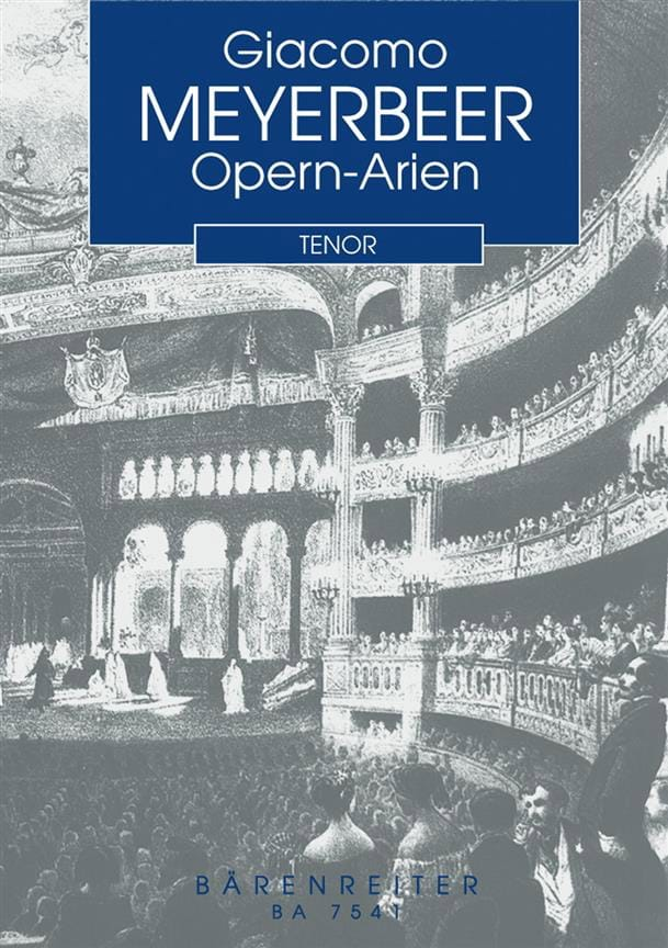 Giacomo Meyerbeer - Opern-Arien for Tenor and Klavier - Partition - di-arezzo.co.uk