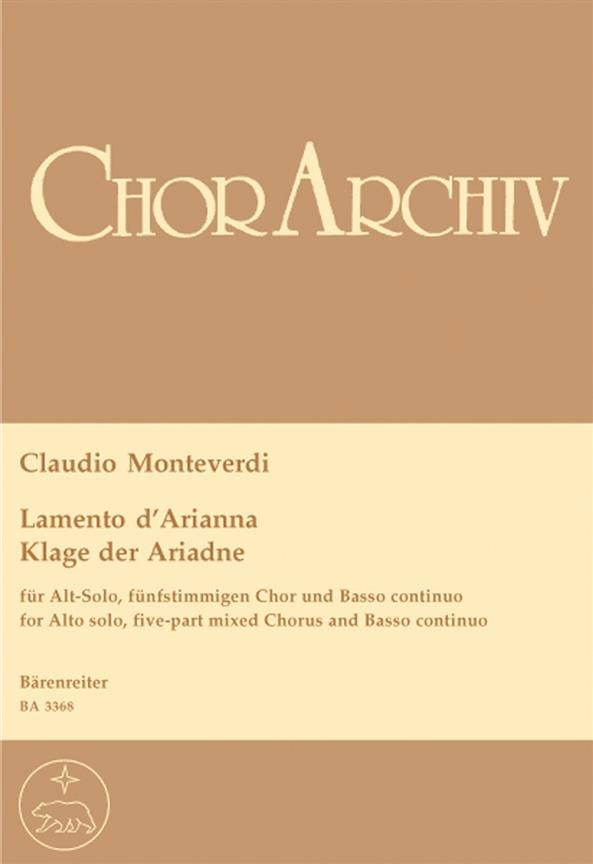 Claudio Monteverdi - Lamento of Arianna - Partition - di-arezzo.co.uk