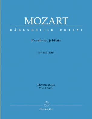 MOZART - Exsultate Jubilate. Kv 165 158a - Partition - di-arezzo.co.uk