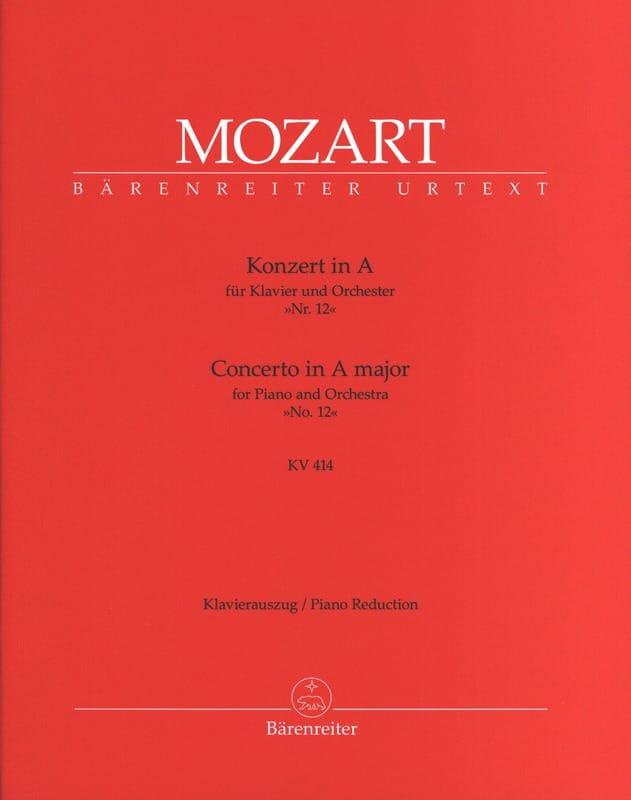 MOZART - Piano Concerto No. 12 In the Major K 414 - Partition - di-arezzo.co.uk