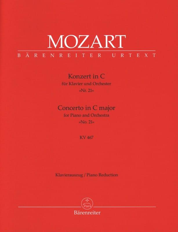 MOZART - Piano Concerto No. 21 in C major K 467 - Partition - di-arezzo.co.uk