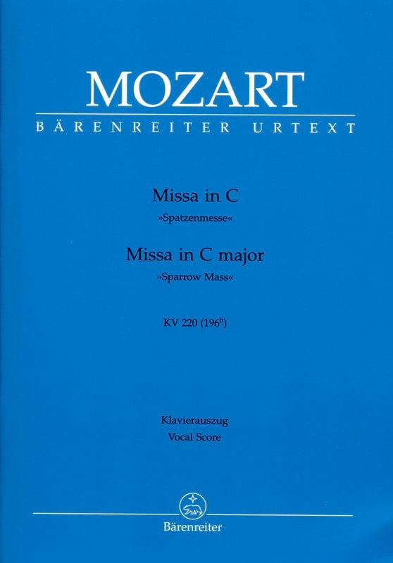 Missa Brevis in C K 220 K 196b - MOZART - Partition - laflutedepan.com