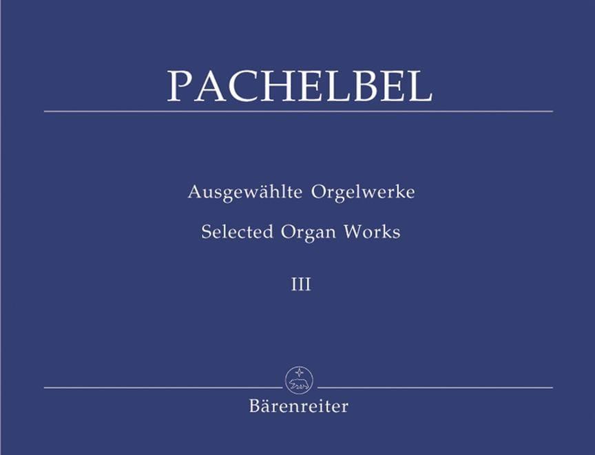 Johann Pachelbel - Work for Organ Volume 3 - Partition - di-arezzo.com