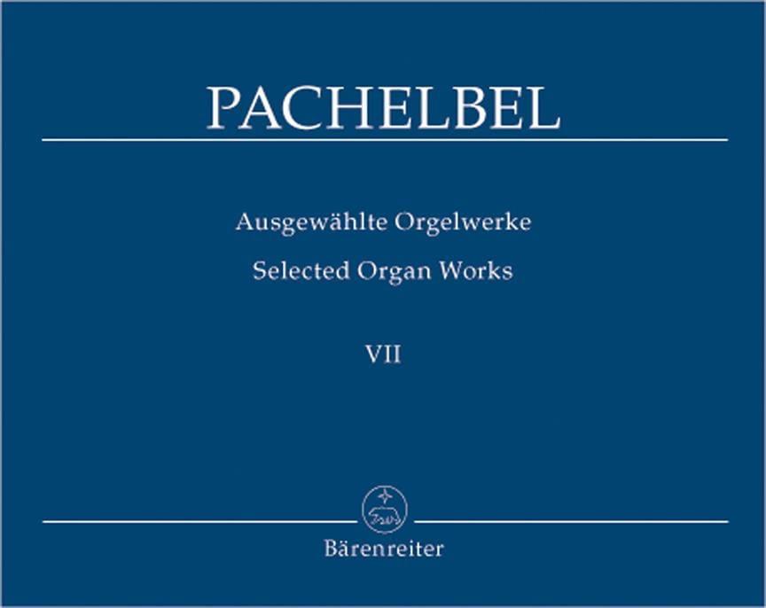 Johann Pachelbel - Work For Organ Volume 7 - Partition - di-arezzo.com