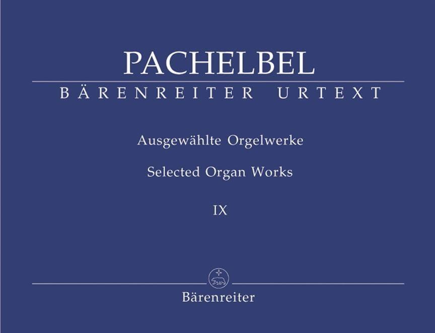 Johann Pachelbel - Work For Organ Volume 9 - Partition - di-arezzo.com