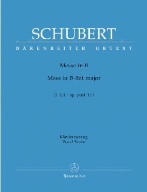 SCHUBERT - Mass In Si D 324. Op. Posth. 141 - Partition - di-arezzo.com