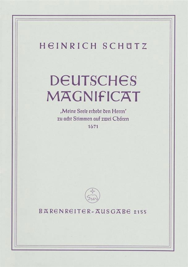 Deutsches Magnificat Aus: Schwanengesang 1671 Swv 494 - laflutedepan.com