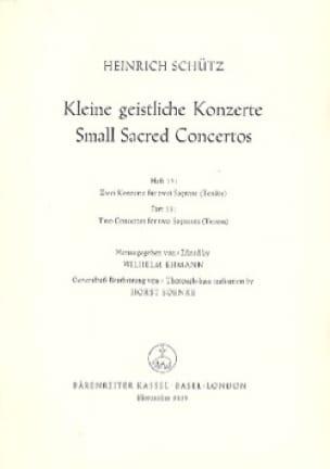 Kleine Geistliche Konzerte. Volume 15 - SCHUTZ - laflutedepan.com
