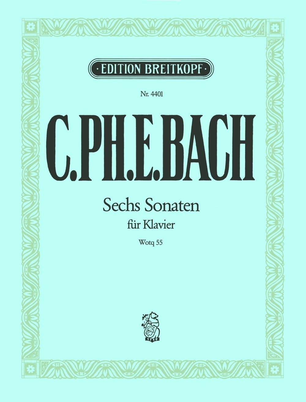 Carl-Philipp Emanuel Bach - Die 6 Sonaten Wq 55 - Partition - di-arezzo.com