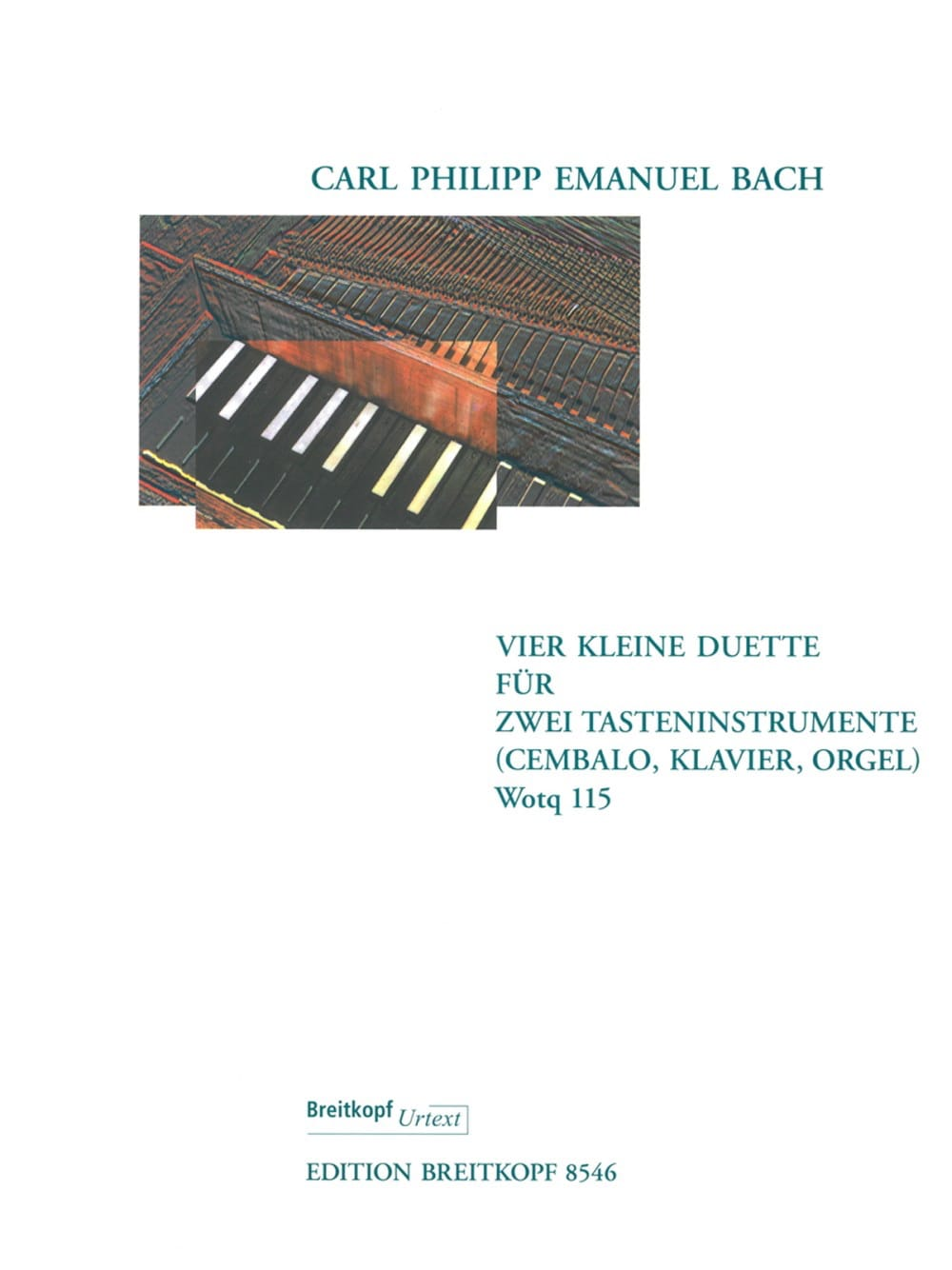 Carl-Philipp Emanuel Bach - 4 Small Duets Wotq 115. 2 Harpsichords - Partition - di-arezzo.com