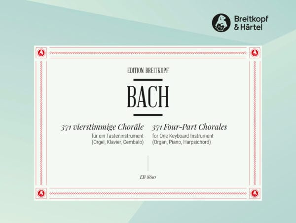 BACH - 371 Chorales - Partition - di-arezzo.co.uk