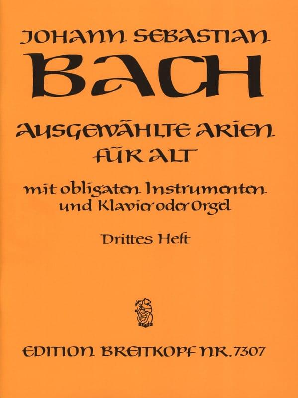 Airs de Cantates Alto Volume 3 - BACH - Partition - laflutedepan.com