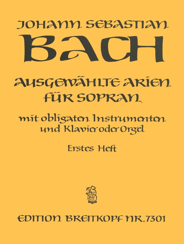 BACH - Airs of Soprano Cantata Volume 1 - Partition - di-arezzo.com