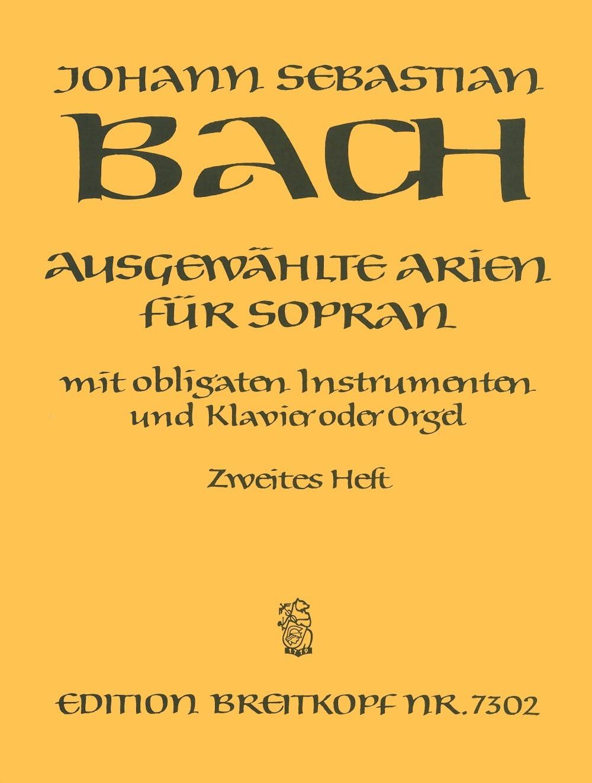 BACH - Airs of Soprano Cantata Volume 2 - Partition - di-arezzo.com