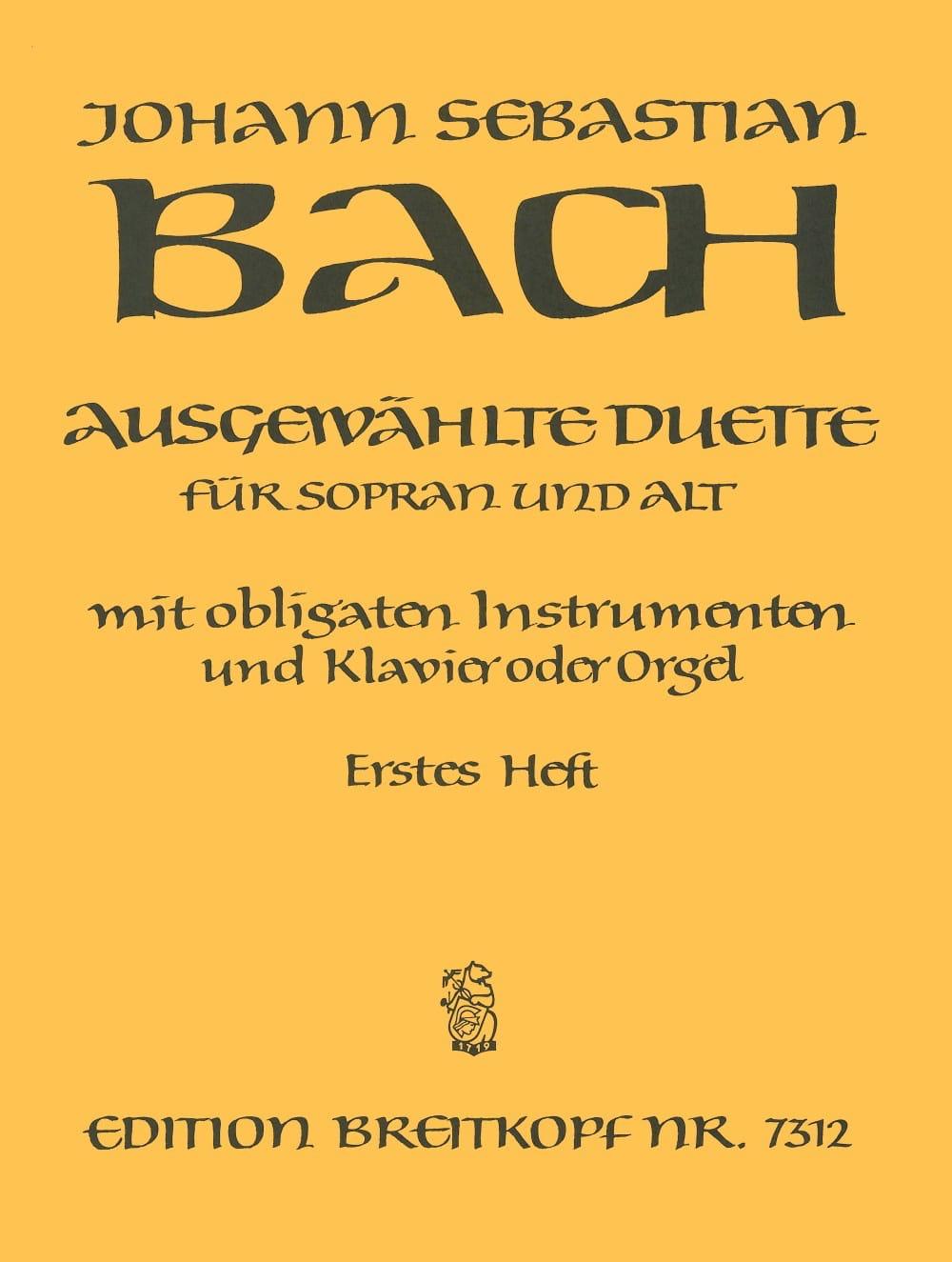 BACH - Ausgewählte Duet Sopran y Alt Volume 1 - Partition - di-arezzo.es