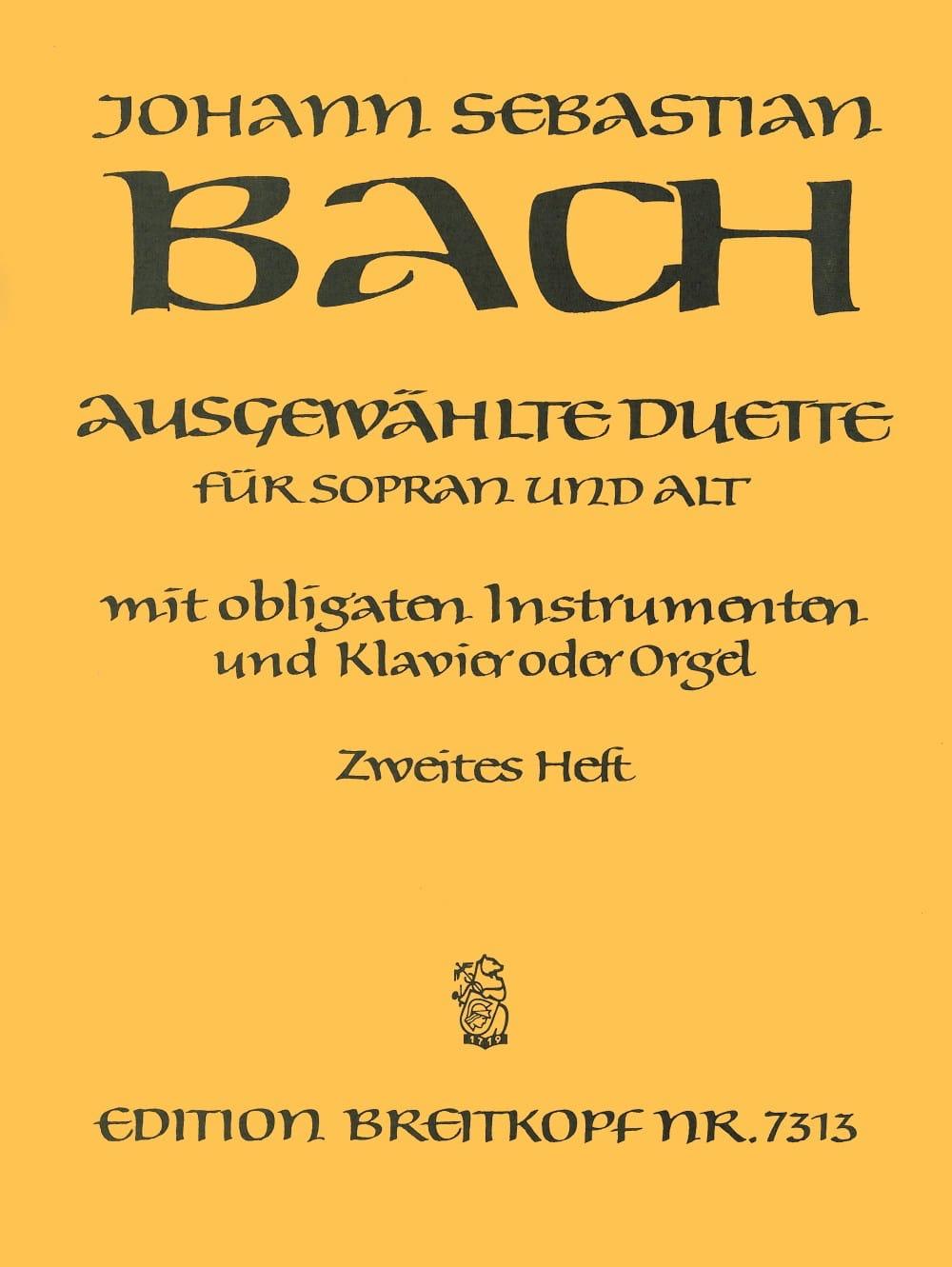 BACH - Ausgewählte Duet Sopran y Alt Volume 2 - Partition - di-arezzo.es