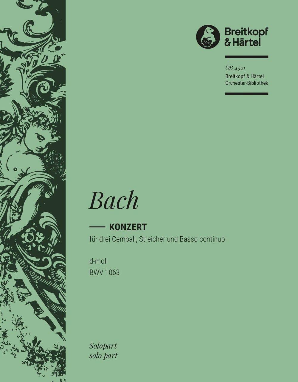 Concerto Pour 3 Claviers BWV 1063. Clavecin 2 - laflutedepan.com