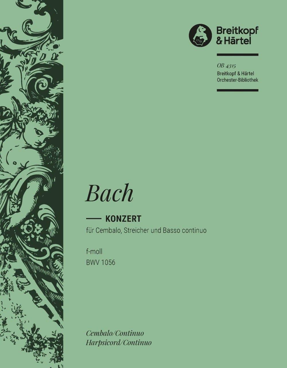 Concerto pour clavier En Fa Mineur BWV 1056 - BACH - laflutedepan.com
