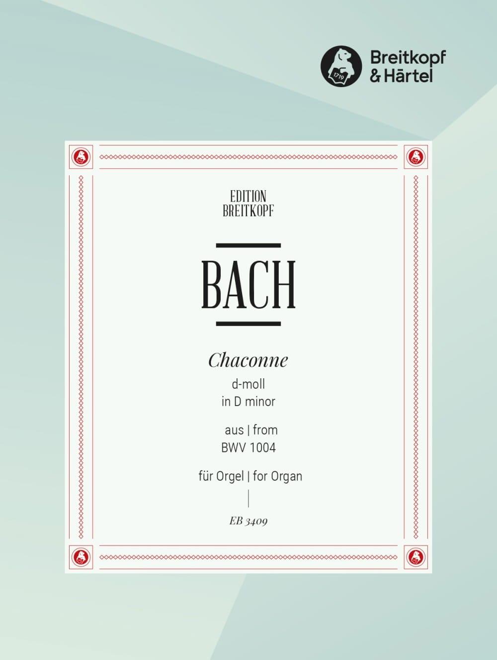 Chaconne Bwv 1004 - BACH - Partition - Orgue - laflutedepan.com