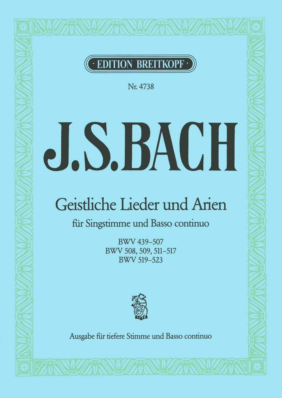 Geistliche Lieder Und Arien. Voix Grave - BACH - laflutedepan.com