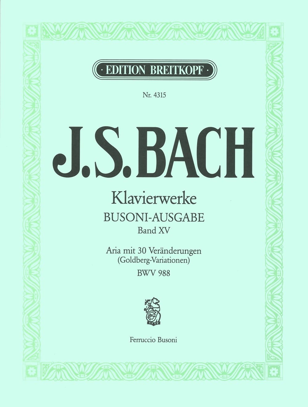 Goldberg-Variationen BWV 988. Volume 15 - laflutedepan.com