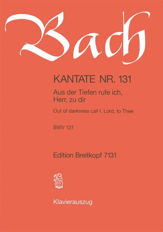 BACH - Cantate 131 Aus Der Tiefe Ich Rufe, Herr, Zu Dir - Partition - di-arezzo.co.uk