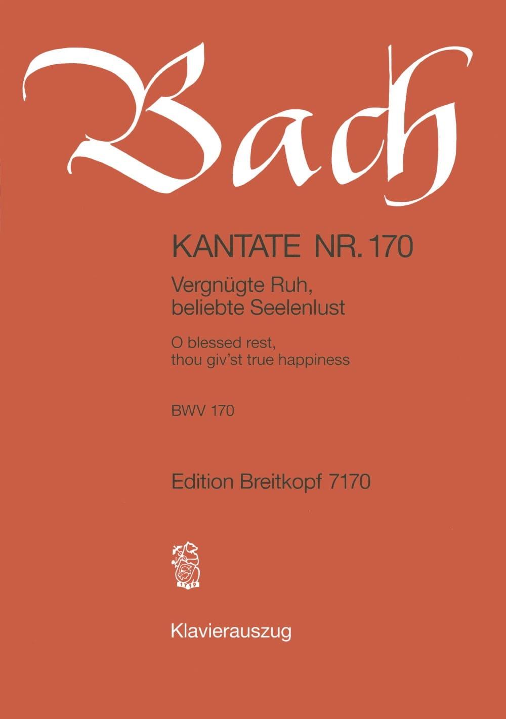 Cantate 170 Vergnügte Ruh, Beliebte Seelenlust - laflutedepan.com