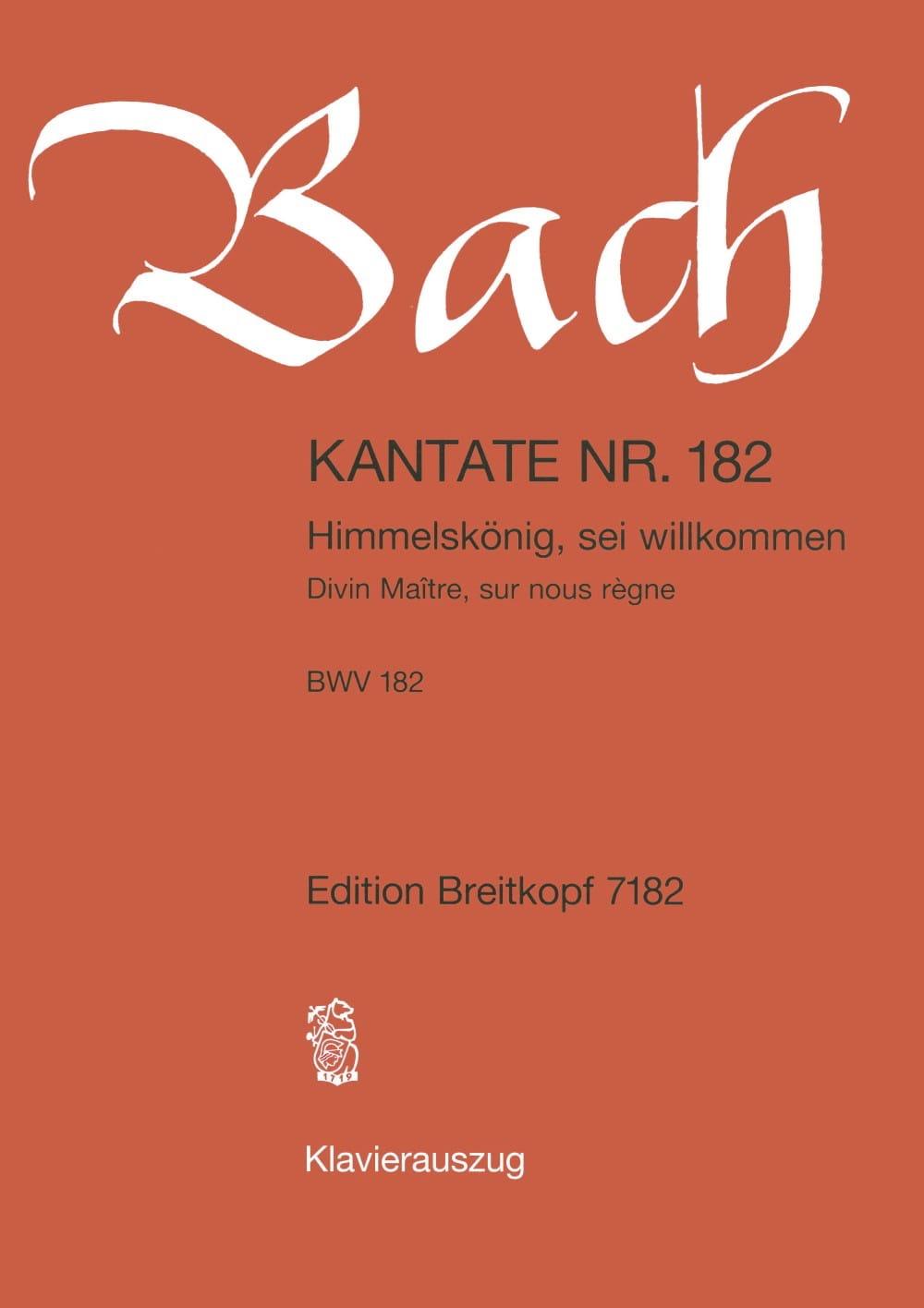 Cantate 182 Himmelskönig, Sei Willkommen - BACH - laflutedepan.com