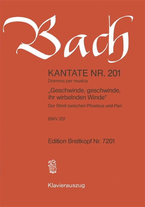 Cantate 201 Geschwinde, Geschwinde Ihr Wirbelnden Winde - laflutedepan.com